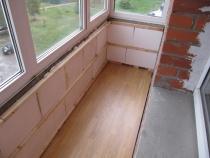 Утепление балкона и лоджий различными материалами.