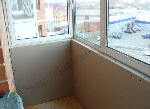 Оштукатуривание балкона своими руками 1004