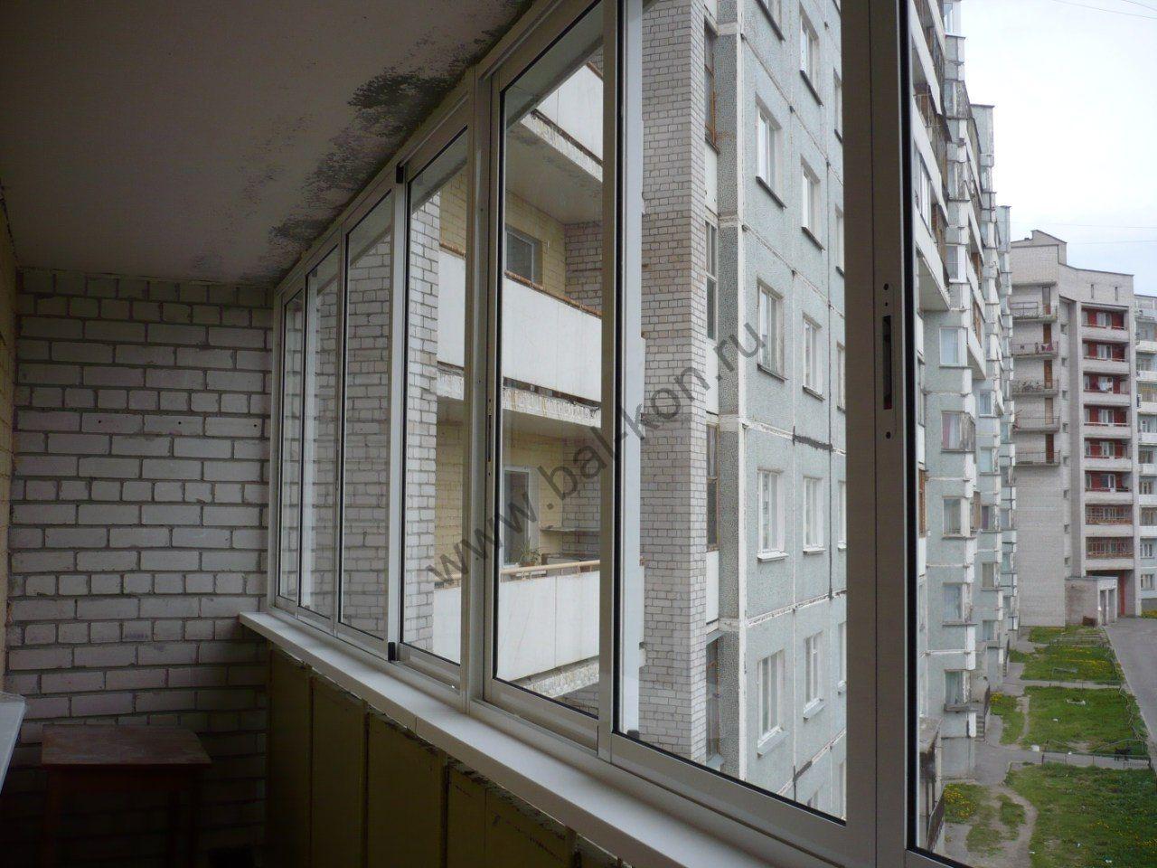 Остекление балконов алюминиевым профилем provedal, остеклени.