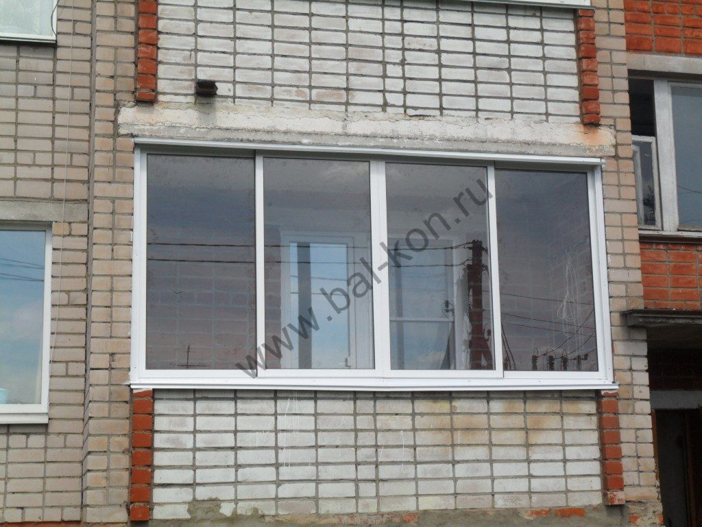 Фото остекления балконов.