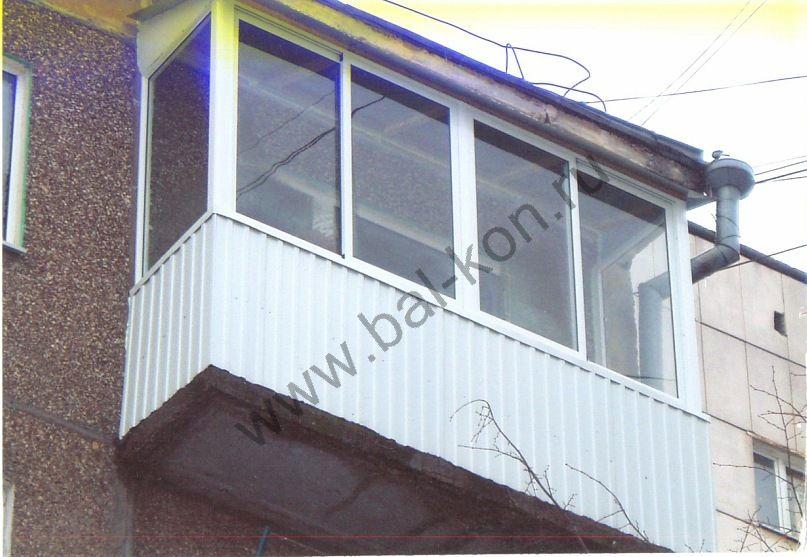 Хрущевка остекление балконов с крышей. - дешевые окна - ката.