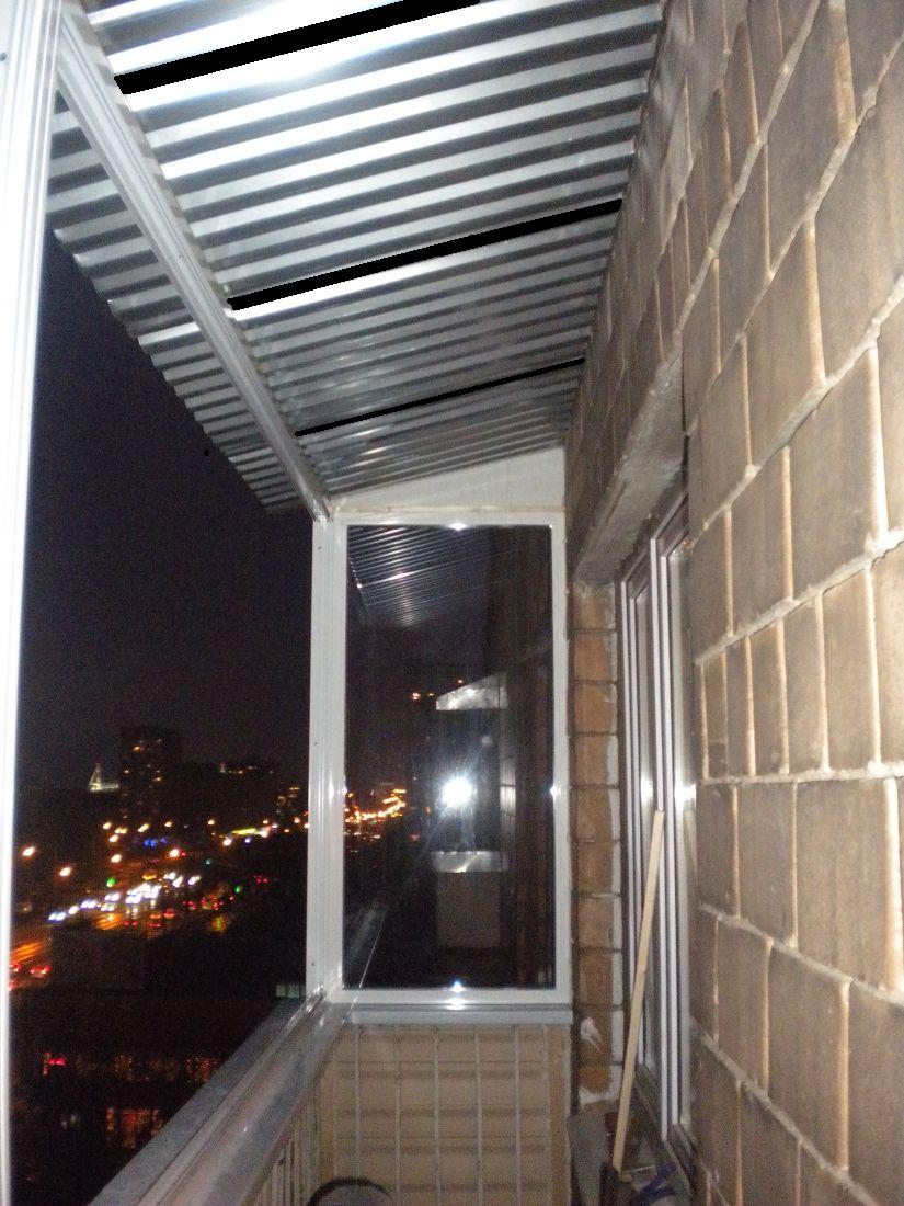 Установка крыши балкона цены в екатеринбурге, кровля на балк.
