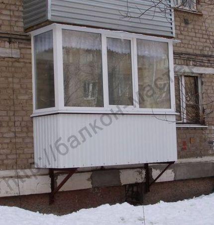 Построить балкон на первом этаже, цены в екатеринбурге.