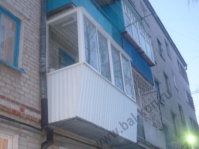 Стенд для испытаний лестниц, поясов, лазов - остекление балк.