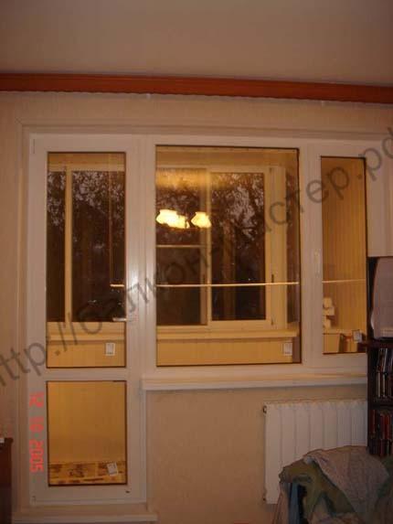 Установка пластиковых окон на балкон, остекление лоджий и ба.